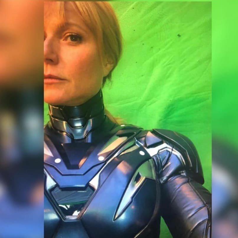 「小辣椒」葛妮絲派特洛日前上傳身著鋼鐵裝甲的《復仇者聯盟4》拍攝花絮照。