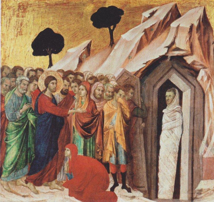 聖經中耶穌使拉撒路復活。