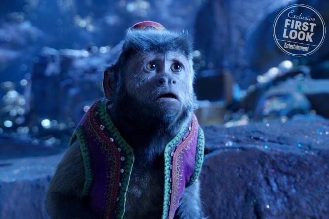 迪士尼真人版《阿拉丁》電影劇照,阿拉丁的小夥伴猴子阿布。