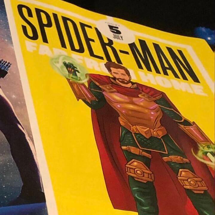 傑克葛倫霍在《蜘蛛人:離家日》中的反派「神秘客」(Mysterio) 美術設定造型圖曝光。
