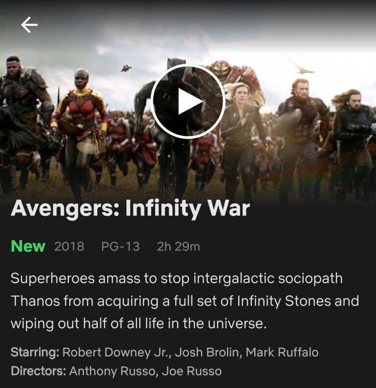 Netflix 將薩諾斯形容為一位反社會份子 (Intergalactic Sociopath)。