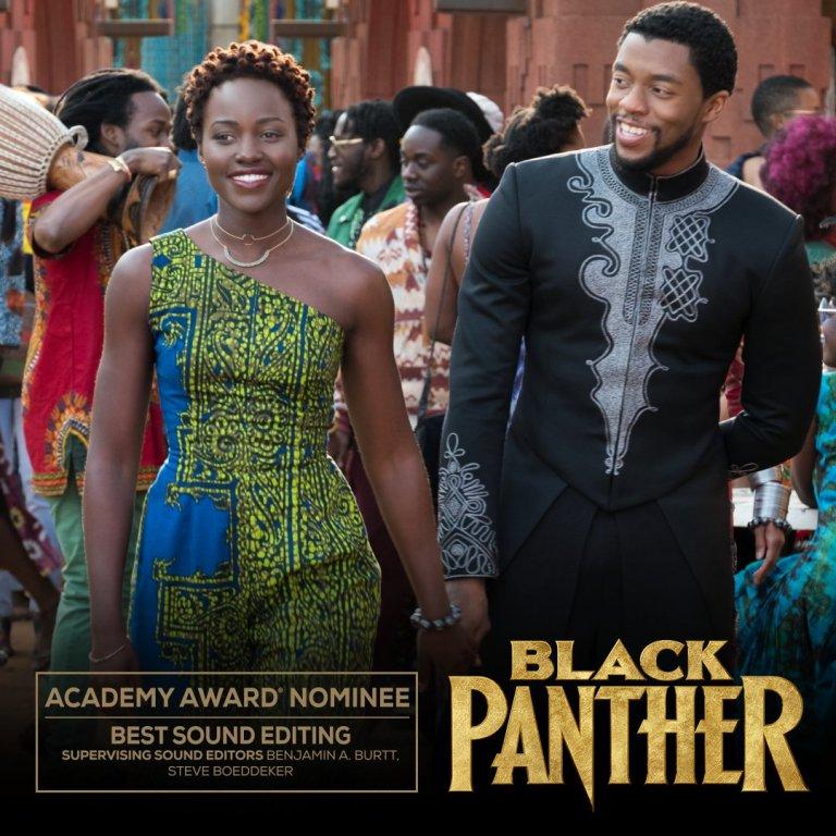 《黑豹》(Black Panther) 入圍 2019 年第 91 屆奧斯卡「最佳音效剪輯」獎。