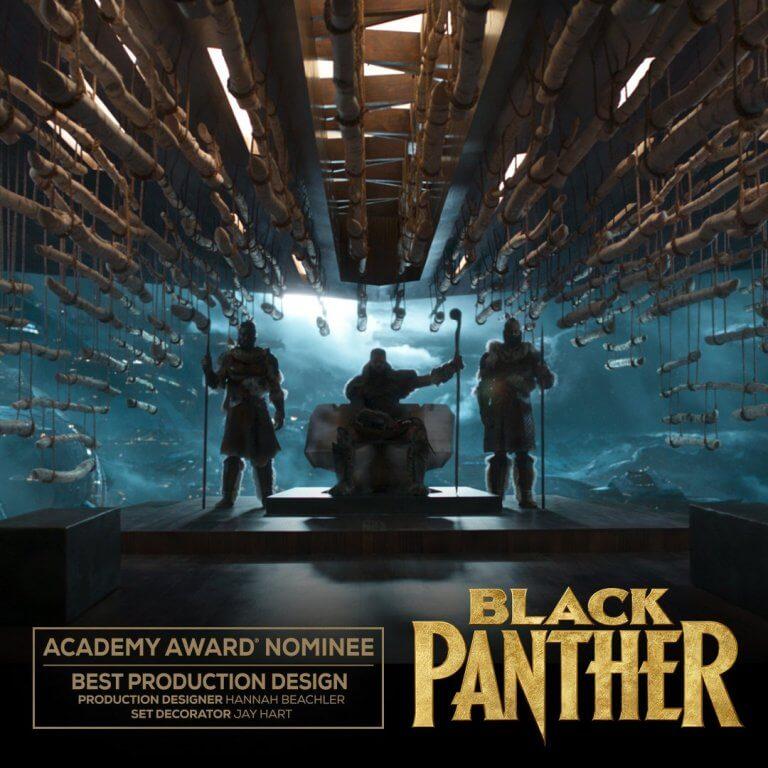 《黑豹》(Black Panther) 入圍 2019 年第 91 屆奧斯卡「最佳美術設計」獎。