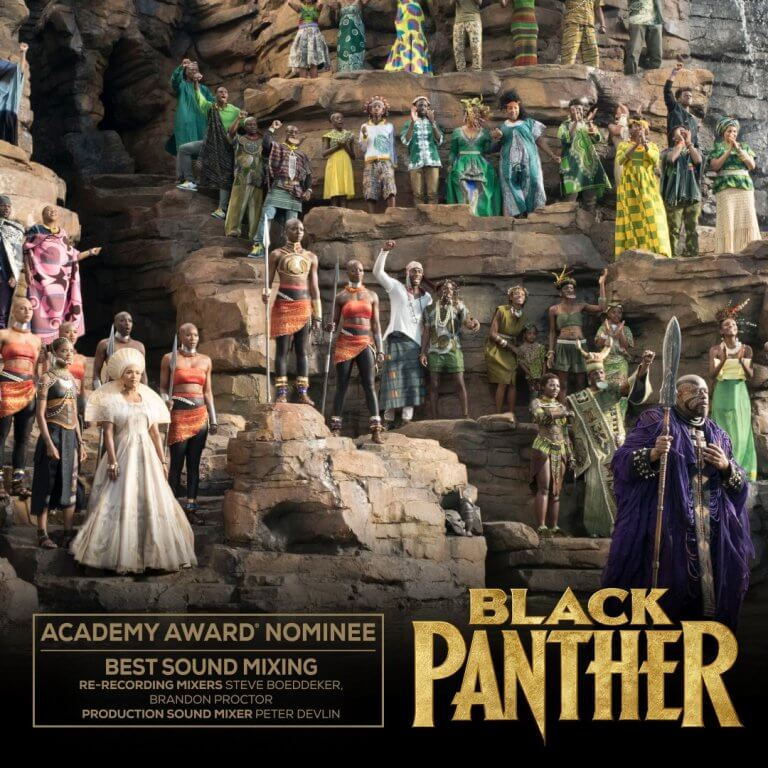 《黑豹》(Black Panther) 入圍 2019 年第 91 屆奧斯卡「最佳混音」獎。