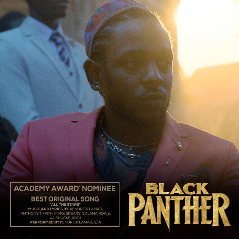 《黑豹》(Black Panther) 入圍 2019 年第 91 屆奧斯卡「最佳原創歌曲」獎。