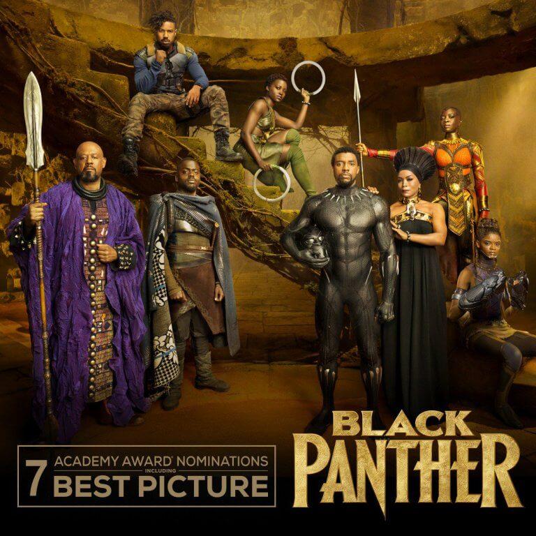 漫威電影《黑豹》入圍了奧斯卡七項大獎,包含了最佳影片。