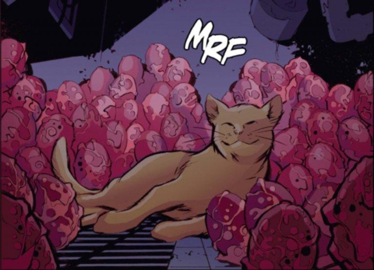 原作漫畫中,還出現過卡蘿丹佛斯飼養的佛萊肯「阿丘」(Chewie) 突然下了 117 顆蛋,也就是這個生物繁殖的方式。
