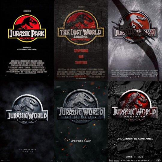 《侏羅紀公園》 系列電影。