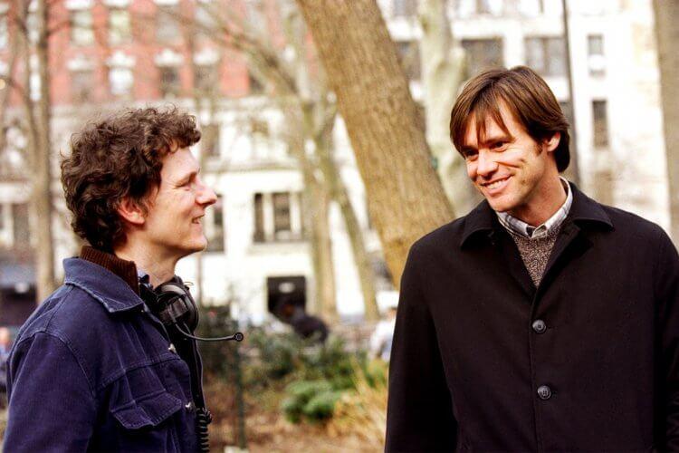 《王牌冤家》導演米歇爾龔特利與金凱瑞。