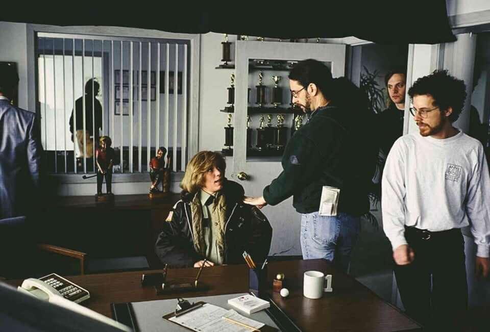 《冰血暴》電影幕後劇照。