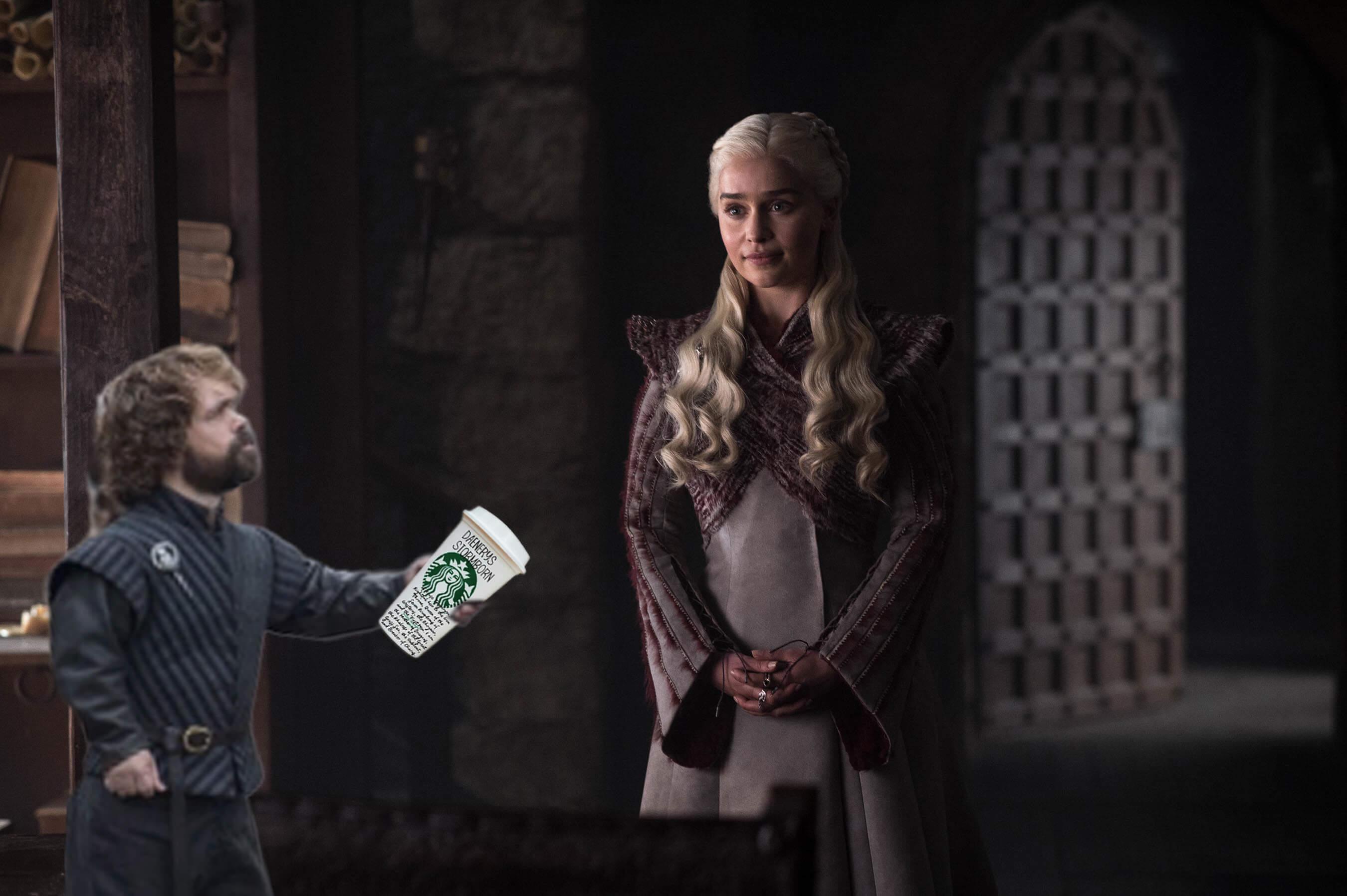 《冰與火之歌:權力遊戲》臨冬城裡龍后桌上的那杯「星巴克」  HBO的官方回應是 ──首圖