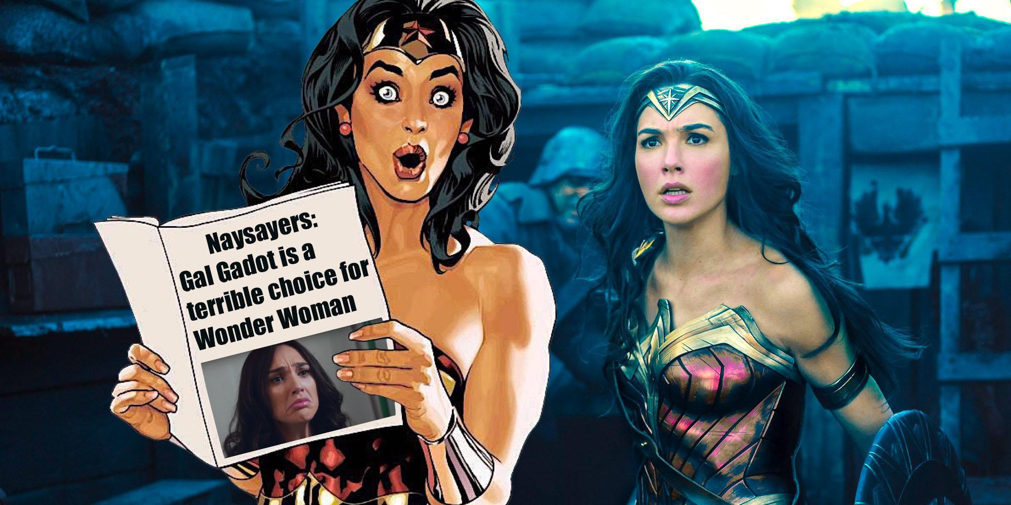 回頭看看過往,蓋兒加朵即將成為神力女超人的選角消息傳出,當時網友曾不斷質疑這個人選。