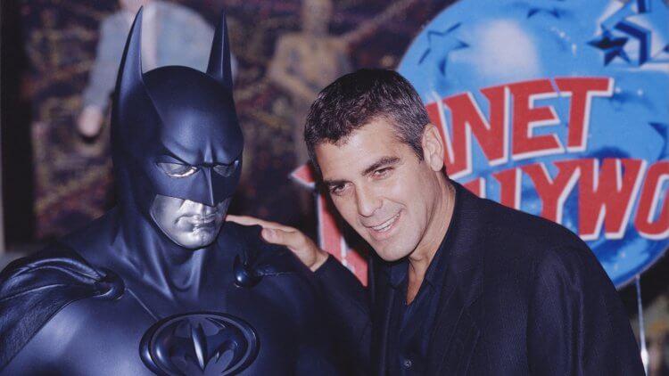 克隆尼與蝙蝠俠。
