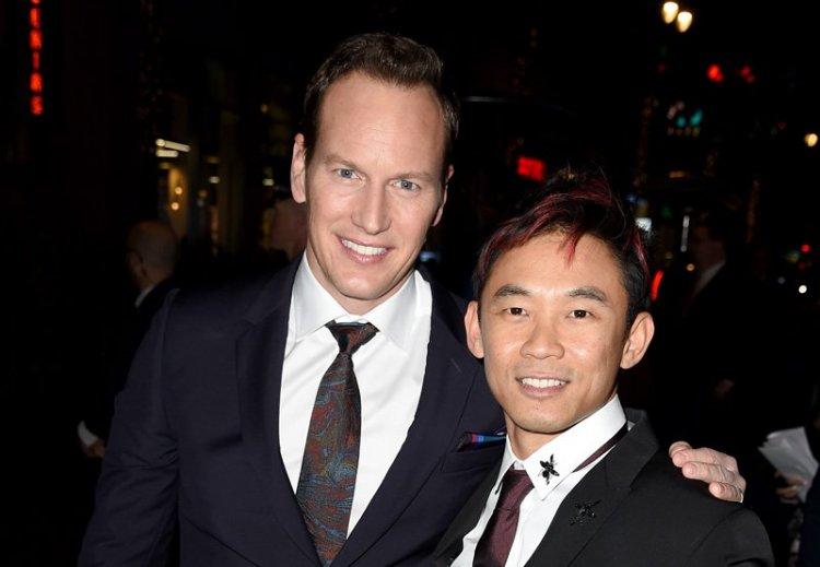 演員派翠克威爾森與和他一起合作多年的好夥伴溫子仁導演。