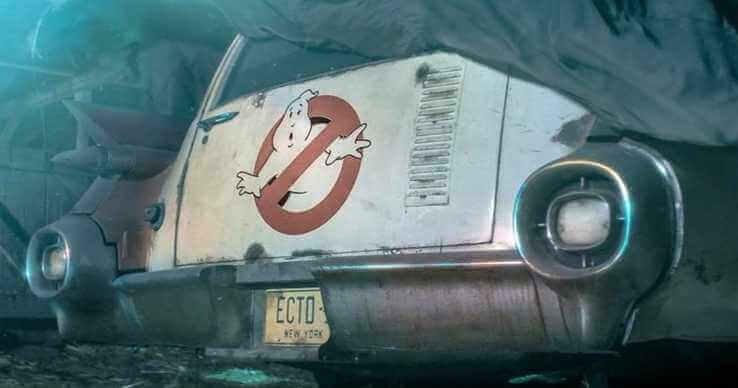 《魔鬼剋星 3》前導預告中的經典車車,以及那個在也熟悉不過的 LOGO。