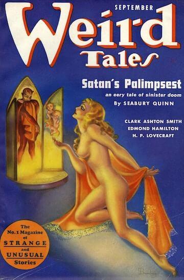 《詭麗幻譚》刊物上可見到洛夫克拉夫特的小說作品。