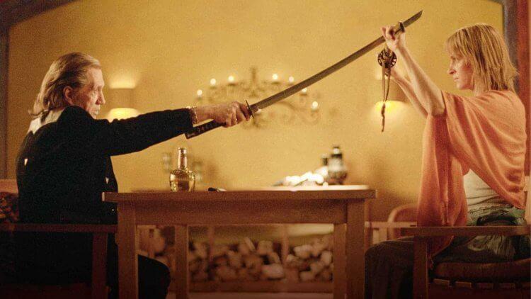 昆汀塔倫提諾編導、鄔瑪舒曼主演的《追殺比爾》被認為是他的代表作之一。