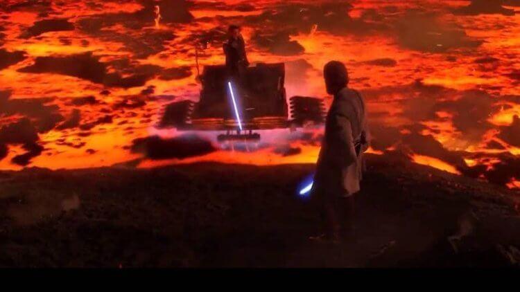 《星際大戰三部曲:西斯大帝的復仇》有許多星戰的經典台詞,其中包含了 歐比王 與 安納金 打鬥片段的「 高地優勢 」台詞。