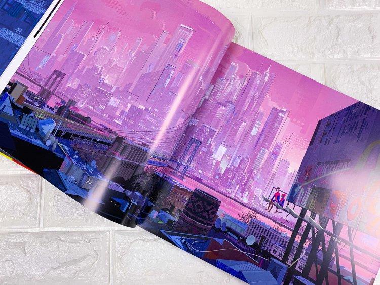《蜘蛛人:新宇宙》電影美術設定集中的場景設定。