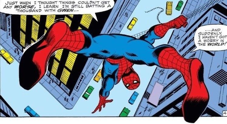 驚悚恐怖片《在黑暗中説的鬼故事》裡可以看到那個年代年輕人所喜愛的漫畫英雄《蜘蛛人》痕跡。