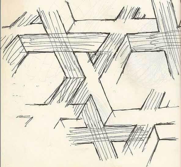 諾蘭 《 星際效應 》的設計手稿。