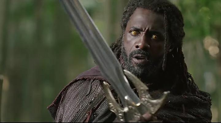 伊卓瑞斯艾巴 於《雷神索爾:諸神黃昏》中的 海姆達爾 扮相。