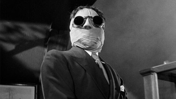1933 年經典科幻驚悚電影《隱形人》(Invisible Man) 劇照,本片即將由布倫屋製片跨世紀重啟。