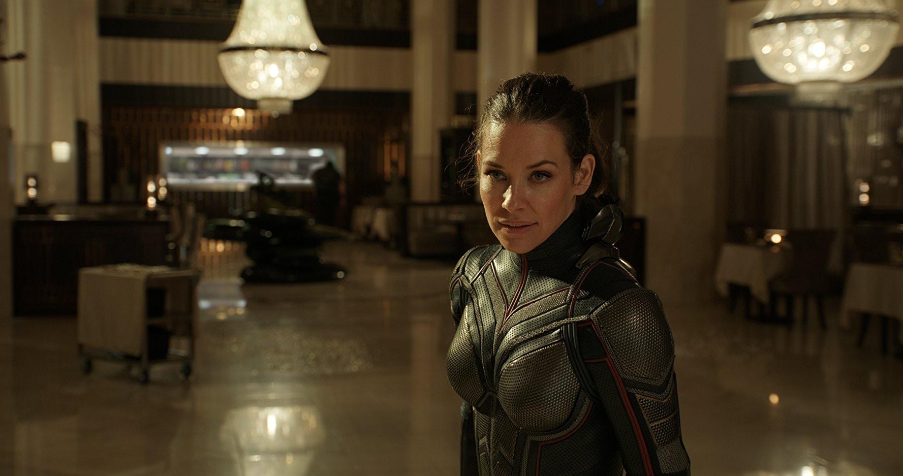 2018 年的漫威超級英雄電影《蟻人與黃蜂女》中,由伊凡潔琳莉莉飾演的黃蜂女。