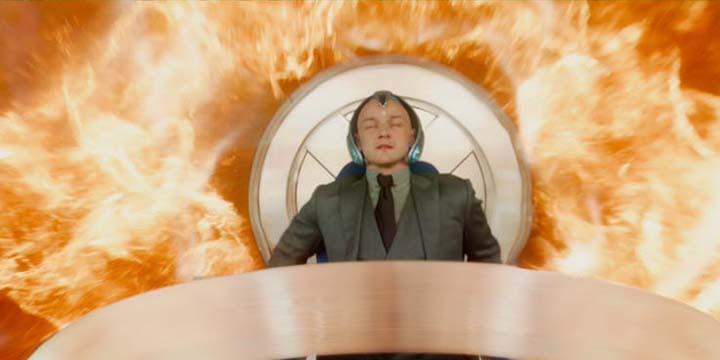 《 X戰警:黑鳳凰 》預告片段中, 查爾斯 遭到大火吞噬?