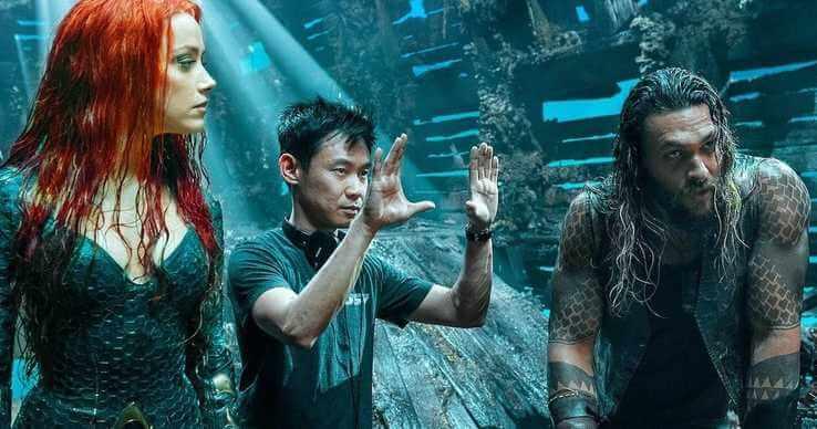 溫子仁導演拍攝《水行俠》時的幕後花絮照。
