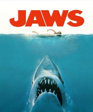 《 大白鯊 》 電影海報 。
