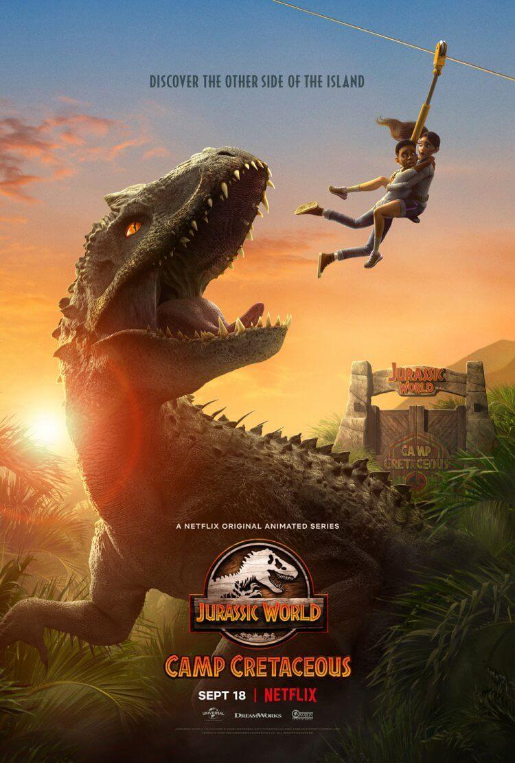 影集《侏羅紀世界:白堊冒險營》海報。