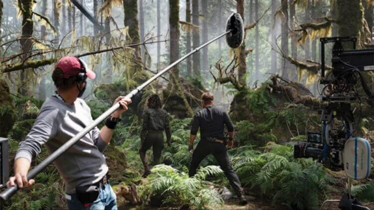 《侏羅紀世界 3:統霸天下》片場照。
