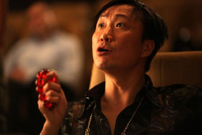 彭浩翔導演 2012 年導演作品《低俗喜劇》中的鄭中基。