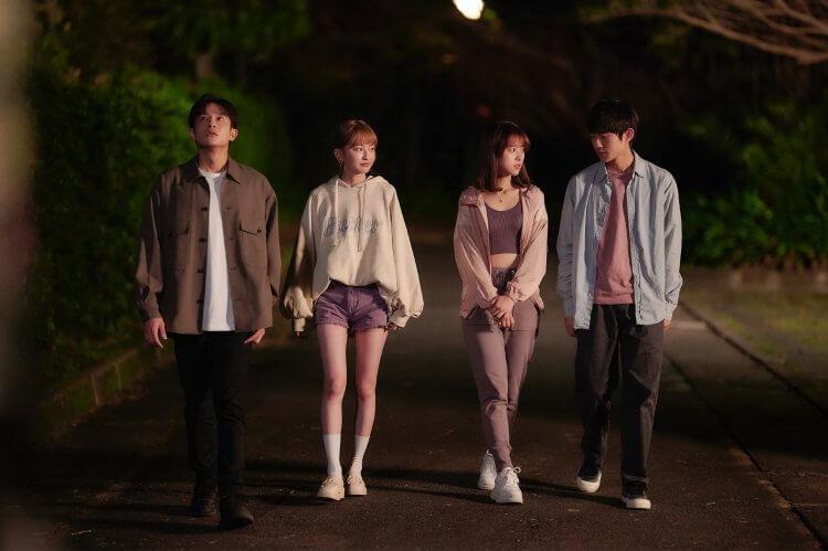 LINE TV 戀愛劇《愛的奧特萊斯》上演校園四角戀!(左起)黃禮豐、葛盈瑄、項婕如、姜典