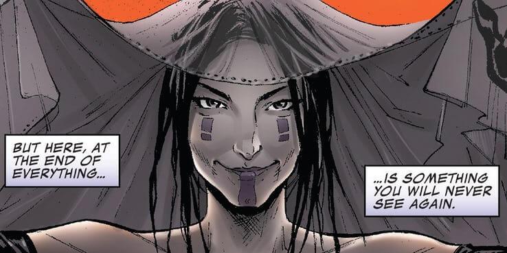 漫威漫畫系列裡的薩諾斯,為了心儀的死亡女神而消滅宇宙半數生命。
