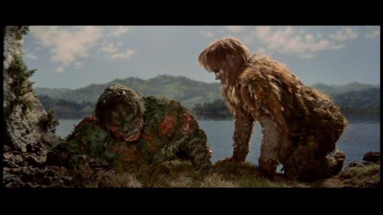 日本東寶特攝怪獸系列:《科學怪人的怪獸 山達對蓋拉》中的兩位科學怪人。