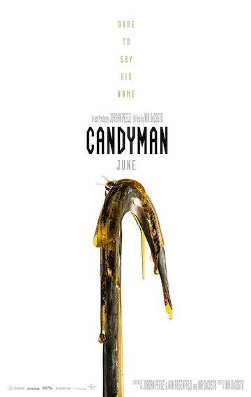 恐怖片導演喬登皮爾 (Jordan Peele) 重啟《腥風怒吼》(Candyman),近期片商釋出《糖果人》海報。
