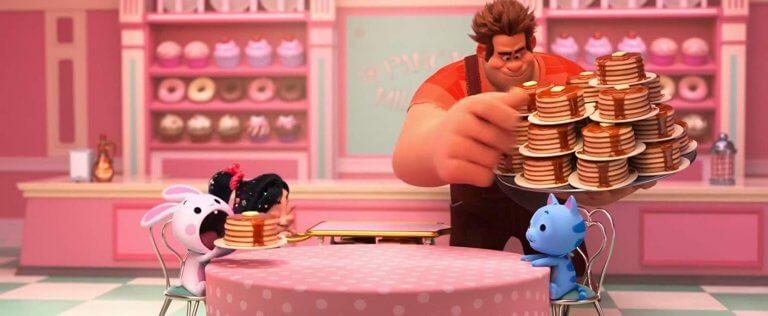 《無敵破壞王2 :網路大暴走》首支預告中的鬆餅遊戲片段,正片並未出現。