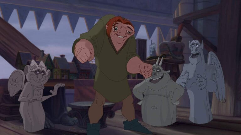 迪士尼 1996 年推出的經典 2D 手繪動畫電影《鐘樓怪人》。