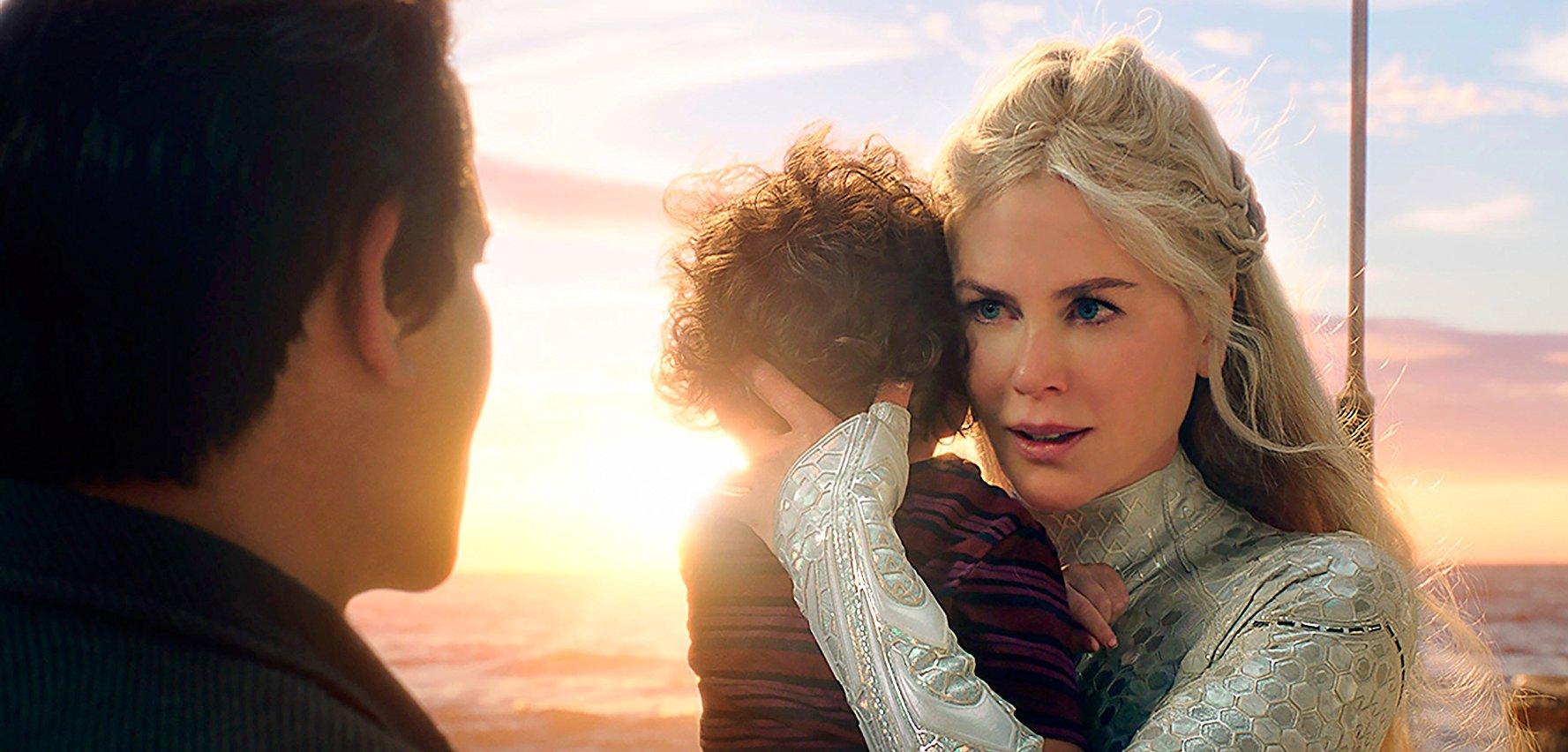 《 水行俠 》電影劇照, 妮可基嫚 在片中飾演 亞特蘭提斯 的前任女王, 水行俠 亞瑟柯瑞 的母親。