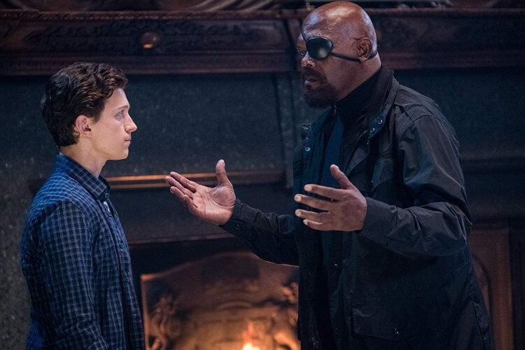 漫威電影宇宙的尼克福瑞在《蜘蛛人:離家日》登場。
