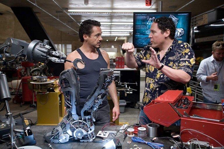 2008年的鋼鐵人,改變了漫威電影的命運 /圖為小勞勃道尼與強法夫洛