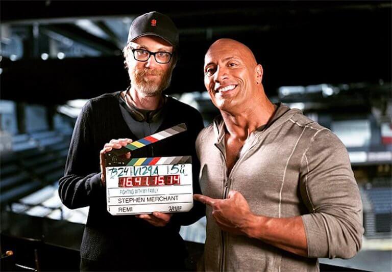 《我和我的摔角家庭》史蒂芬默錢特 (Stephen Merchant) 導演與巨石強森