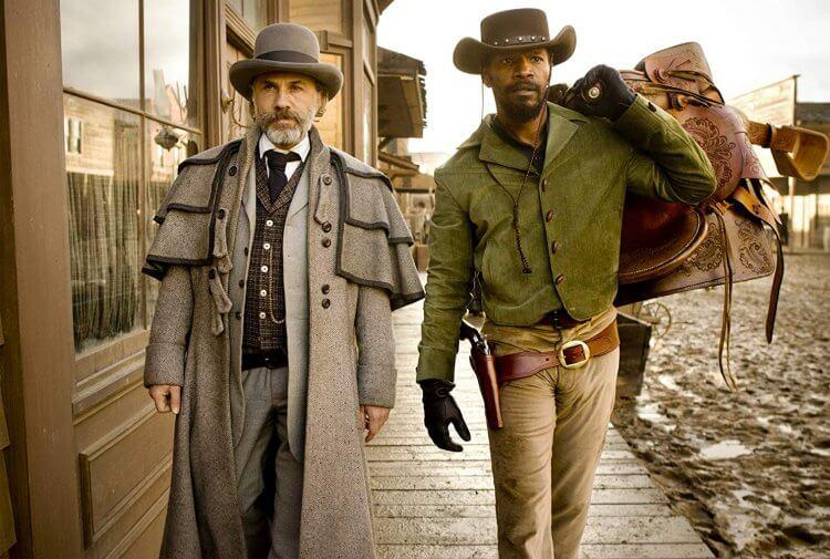 克里斯多夫華茲與傑米福克斯在昆汀塔倫提諾導演作品《決殺令》中的劇照造型。