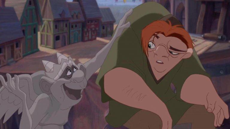 《鐘樓怪人》主角卡西莫多因外貌異於常人而囚居在鐘樓上。