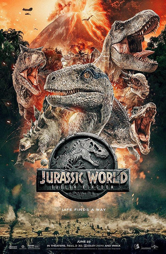 「 你還記得第一次看到恐龍嗎 ?」侏羅紀宇宙的最新作品《 侏羅紀世界 : 殞落國度 》 電影 海報 。