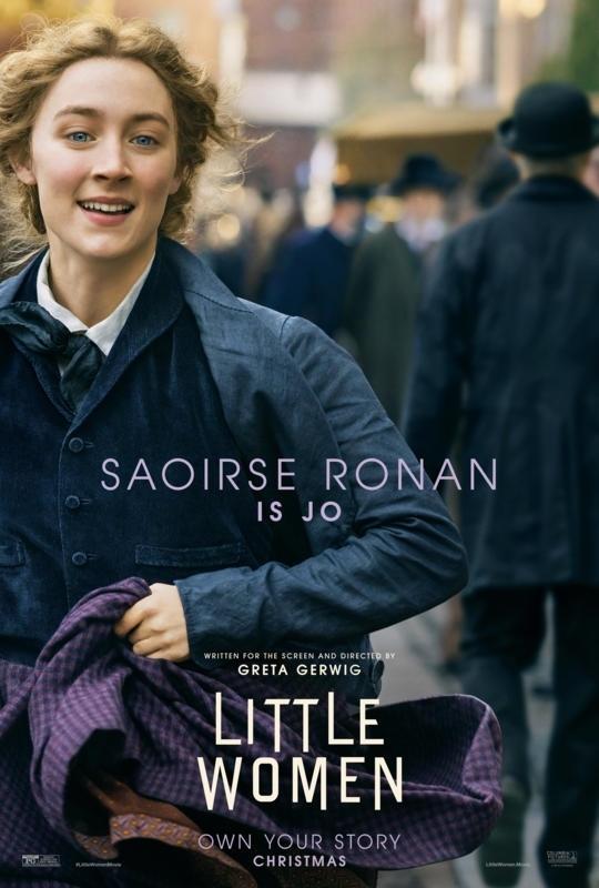電影《她們》中,瑟夏羅南飾演「小婦人」四姊妹中的老二:喬 (Joe)。