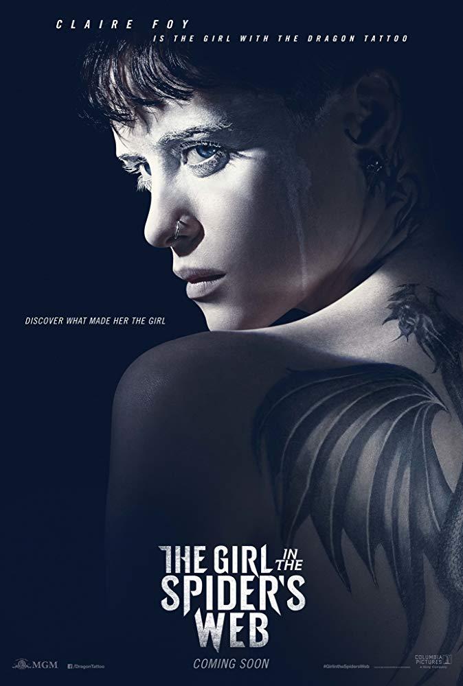 克萊兒芙伊 在《 蜘蛛網中的女孩 》演出 莉絲莎蘭德 。
