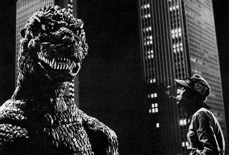1984 年《哥吉拉》的拍攝現場。